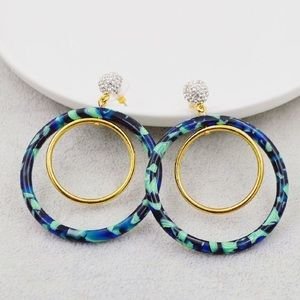 Brand new Lele Sadoughi Crystal hoop earrings